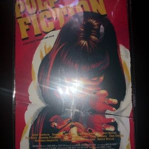 """Pulp Fiction 8""""x12"""" Painted Metal Sign Mountable"""